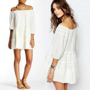 Free People Candy Shop Off the Shoulder Mini Dress